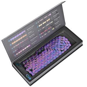 Image 3 - SUMC multi colored 9/10/11/12 prędkość łańcuch rowerowy Rainbow Hollow semi hollow magiczna klamra szosowe MTB kompatybilny 116/126L