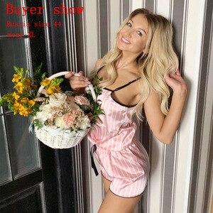 Image 2 - بيجامة 7 قطع للنساء بلون وردي للنوم جولي سونج, بيجامة للنوم مناسبة للخريف والصيف والربيع من 7 قطع للارتداء بالمنزل