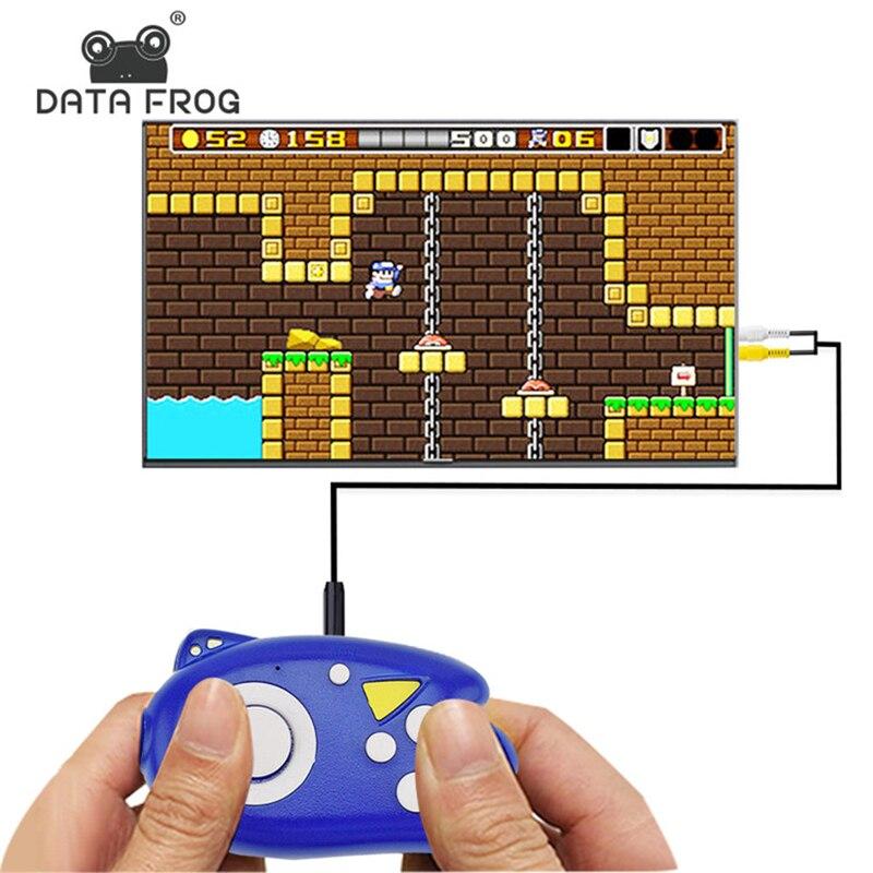 데이터 forg 8 비트 비디오 게임 콘솔 핸드 헬드 게임 플레이어 89 클래식 게임 지원 tv 출력 플러그 어린이를위한 최고의 선물