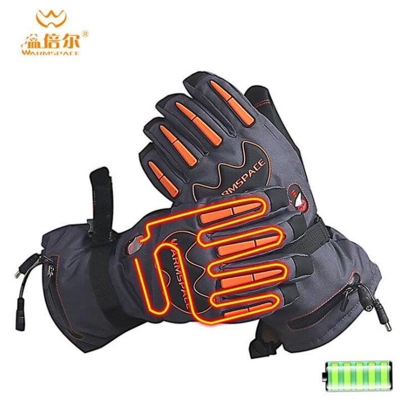 Warmspace 5600MAH Smart Electric Heat Gloves,Ski Waterproof Lithium Battery Self Heating,5 Fingers&Hand Back Heated,3 Gear 4-8H
