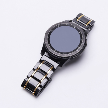 20mm 22mm Ceramic Bracelet For Samsung Galaxy Watch 3 Active 2 Gear S3 Gear Sport band S2 Classic Watch Link for amazfit gtr gts