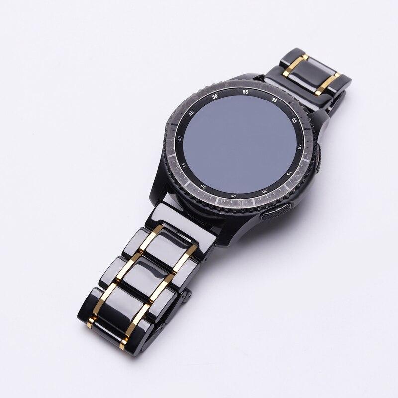 Pulseira de Cerâmica para Samsung Fronteira para Samsung Engrenagem Galaxy Assista 46mm 42mm Esporte Banda s2 Relógio Clássico Link 20mm 22mm s3