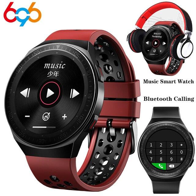 MT3 Âm Nhạc Thông Minh 8G Nam Cuộc Gọi Bluetooth Full Màn Hình Cảm Ứng Chống Nước Chức Năng Ghi Âm MT2 MT 3 Thời Trang Đồng Hồ Thông Minh Smartwatch
