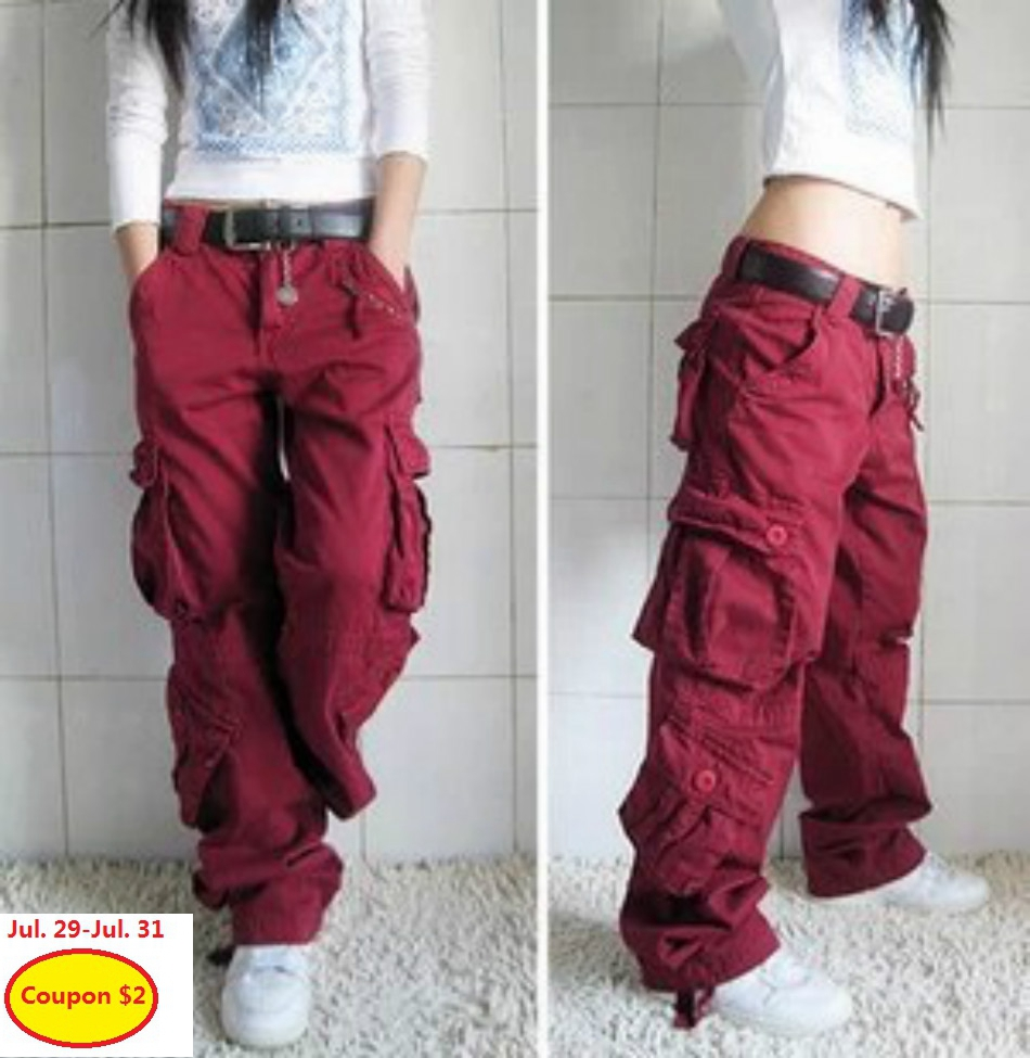 5 colors men women s overalls trousers multi pocket casual pants maxi cargo hip hop baggy