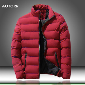 2020 New Winter Jackets Parka Men Brand Autumn Warm Solid Color Outwear Slim Fit Mens Cotton Padded Coats Male Casual Jacket
