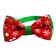 Christmas Holiday Pet Cat Dog Bow Tie Necktie Collar Adjustable Neck Strap Cat D