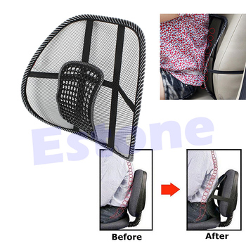 New Cool Vent Massage Cushion Mesh Back Lumber Support Office Chair Car Seat Pad E7CA image