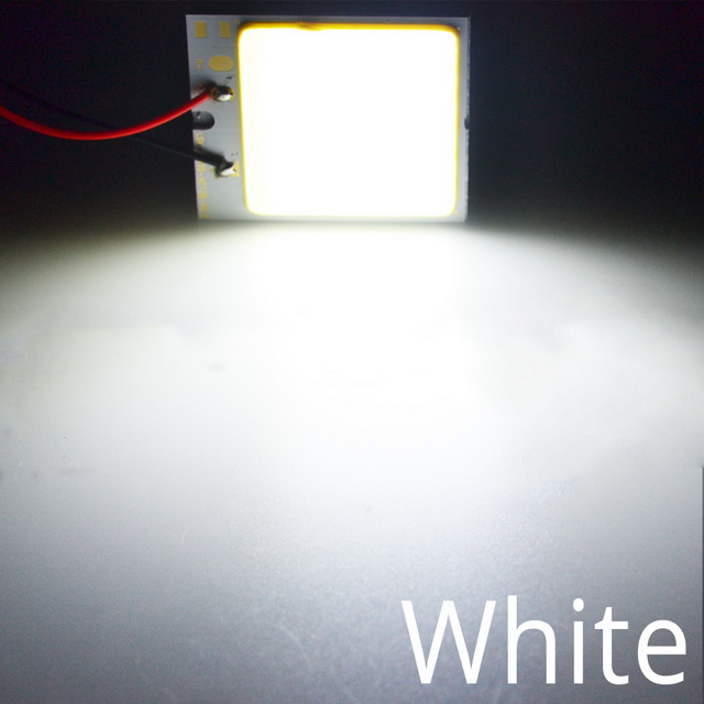 Белый, красный, синий T10 W5w Cob 24SMD 36SMD Автомобильный светодиодный панельный светильник для автомобиля, лампа для чтения в салоне автомобиля, купольная гирлянда BA9S DC 12v - Испускаемый цвет: Белый