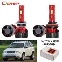 Cawanerl 4 X Car Accessories 60W LED Lamp Headlight High Low Beam White 9000LM 12V For Volvo XC90 2003 2014