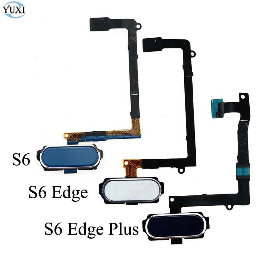 YuXi For Samsung Galaxy S6 Edge Plus G920 G925 G928 Fingerprint Sensor Home Button Flex Cable Replacement White Gold Blue