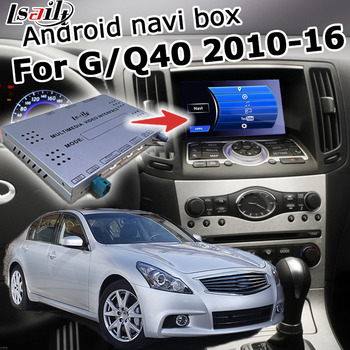 Android / carplay interface box for Infiniti G37 G25 Q40 Skyline 2010-2016 with QX50 QX60 QX70 QX80 video interface by Lsailt image