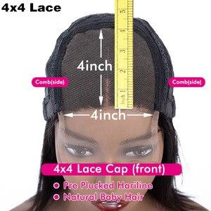 Image 5 - bling hair Perruque Droite Perruque brésilienne Perruque Lace Closure 4x4 5x5 6x6 7x7 Cheveux Humains Perruque Lace Frontal longue perruque de cheveux remy