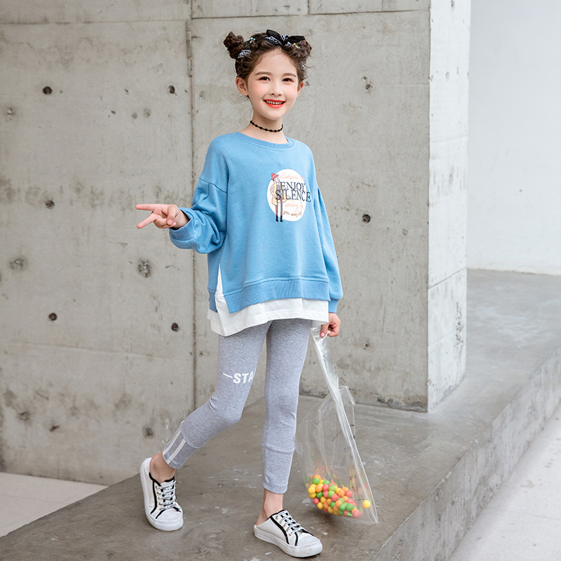 Girls Clothing Sets Autumn Long Sleeve T Shirts+leggings Pants Two Pieces Sets Pajamas Baby Kids Outfits New Casual Clothing 1