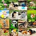 Алмазные мини-строительные блоки, кирпичи, животные, игрушка, сумка, собака, кошка, птица, панда, кролик, серия для детей, подарки