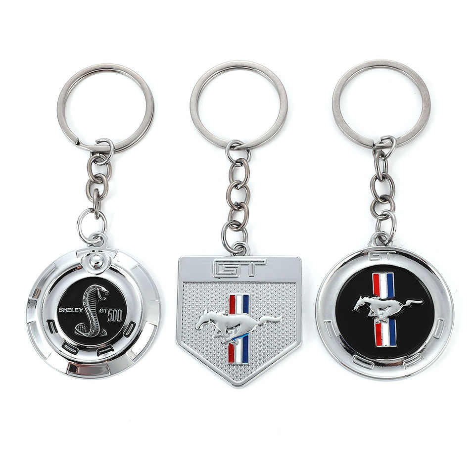 Zinc Alloy Key Chain Key Ring Car Keychain pendant Key Holder For Ford Mustang