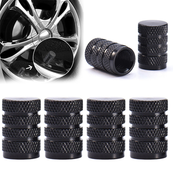 4pc Car Tire Valve Stem cap Aluminum Tire Wheel Rims Stem Air Valve Caps Tyre Cover For Car Truck Tire Screw Dust Cover Airtight image