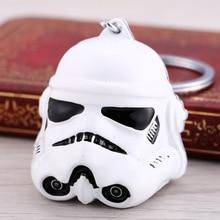 New Movie Peripheral KeyChains Star Wars Darth Vader Helmet White Solid Seiko Keyring Head 3d Key Chain Pendant Gift Man 3d lamp darth vader
