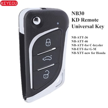 KEYECU NB30 KD900 URG200 KD900 + KD200 Mini KD KD X2 evrensel uzaktan kumanda 3 düğme KD anahtar uzaktan araba anahtarı NB30