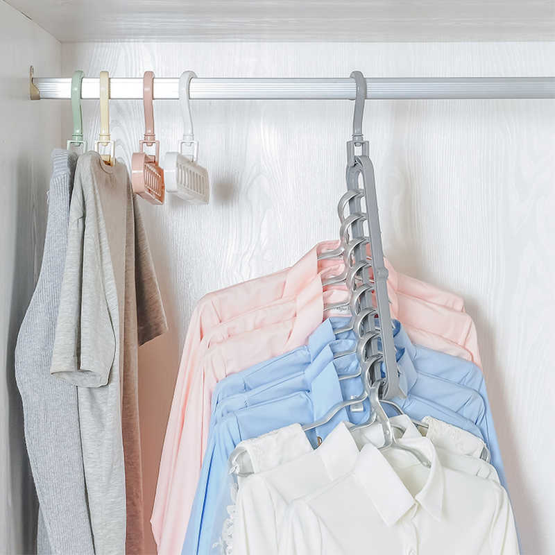 PP Multifunctional Clothing Hangers Organizer Wardrobe Storage Cabinet Home Clothes Storage Organization Bedroom Accessories
