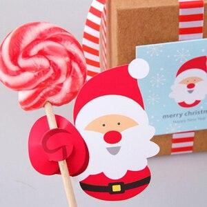 Image 3 - Bộ 50 Ông Già Noel Chim Cánh Cụt Lollipop Nơ Giáng Sinh Lolly Đường ổ bánh Quà Giáng Trang Trí Tiệc Quà Tặng Cho Gia Đình 2018 Trang Trí