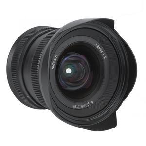 Image 2 - Brightin Star lente de enfoque Manual de Metal de 12mm f2.0 Super gran angular para Sony E, montaje Canon APS C Fuji, montaje FX, sin espejo
