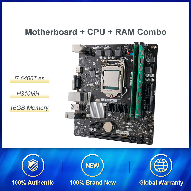 Intel I7 6400T es с материнской платой 16G RAM набор QHQG ES Engineering версия Q0 2.2HMZ 1151 CPU четырехъядерный 8WAY 65W Поддержка памяти