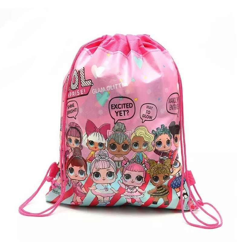 Bolsa de almacenamiento de bolsillo Original, bolsa de compras de tela no tejida, LOL, muñecas sorpresa, juguetes para regalo de cumpleaños para niños