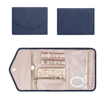 Travel Jewelry Organizer Roll Foldable Jewelry Case for Journey Rings Necklaces Jewerly Storage