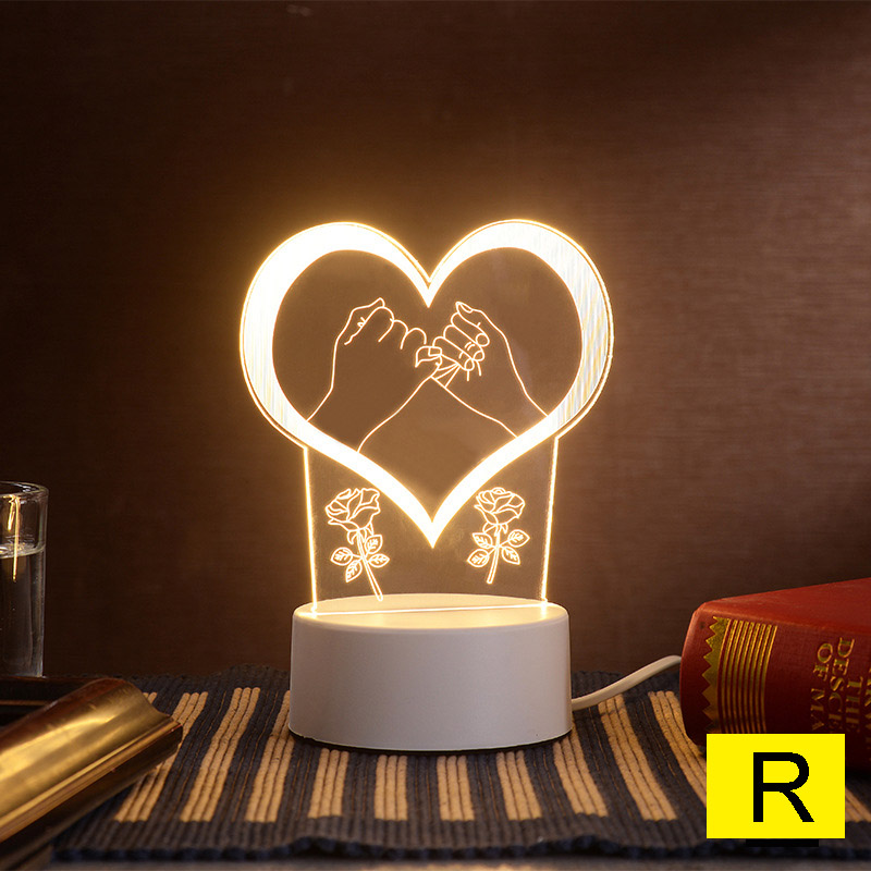 Cartoon Night Light 3D LED USB Dream Soft Light Table Night Light ALI88