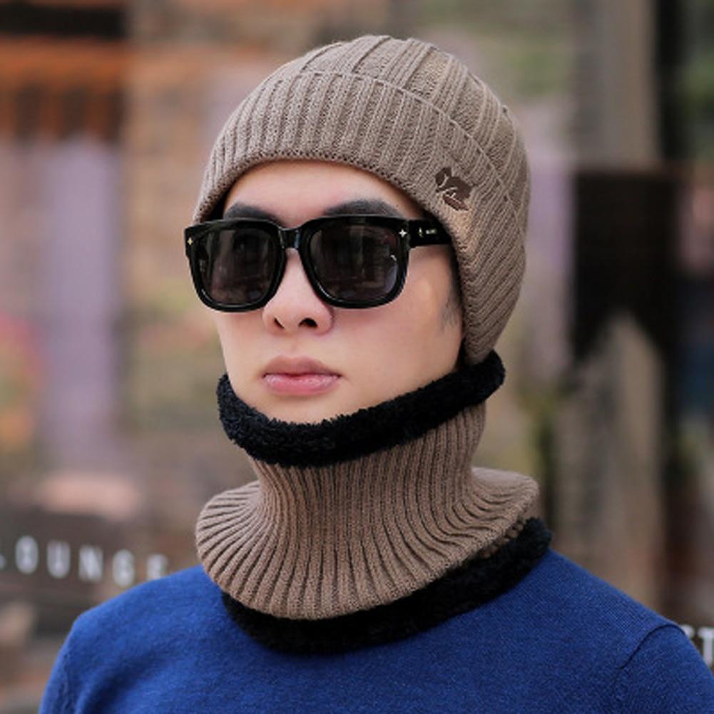 Hot Fashion Men Women Winter Beanie Hat Scarf Set Ladies New Knitted Warm Snow Skull Cap Scarf