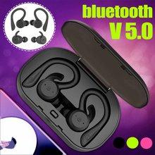 Bluetooth 5.0 destacável earhooks fones de ouvido sem fio tws ipx7 à prova dhd água esporte fone de ouvido hd baixo pesado fone para o telefone