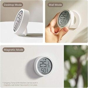 Image 2 - Qingping Bt Thermometer Hygrometer Temperatuur En Vochtigheid Sensor Segment Code Lcd scherm Lite Edition Werken Met Mijia App