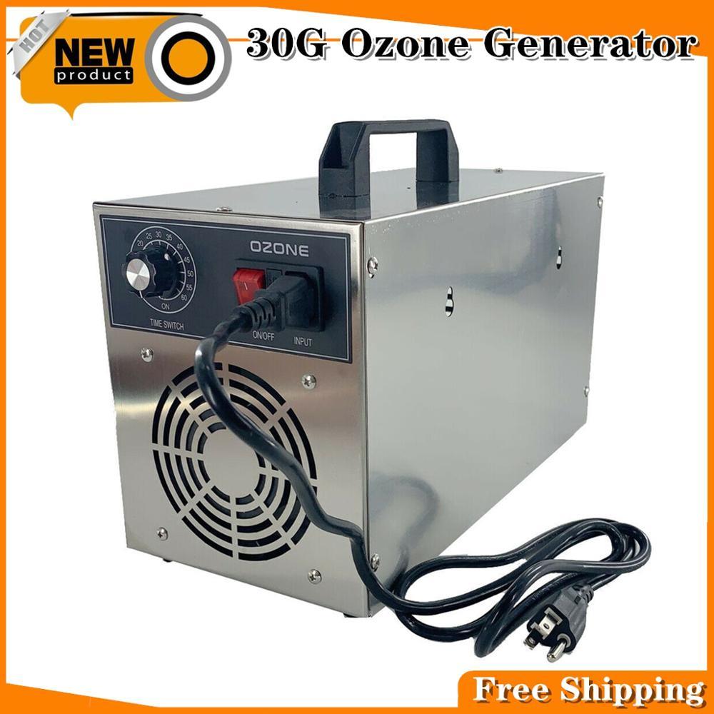 30G Portable Ozone Generator Ozonizer Machine Water Air Cleaner Purifier Ozone Disinfection Sterilization Sterilize 110V/200V DE