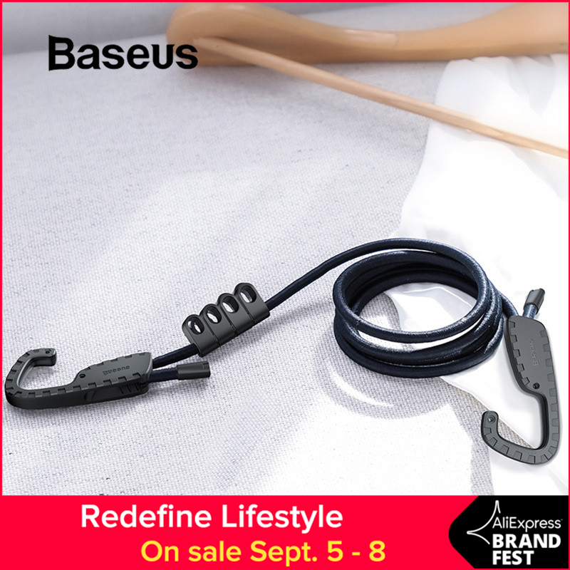 Baseus Rope Hooks Clothes-Line Stretch-String Project-Tent Elastic Strong With For Car