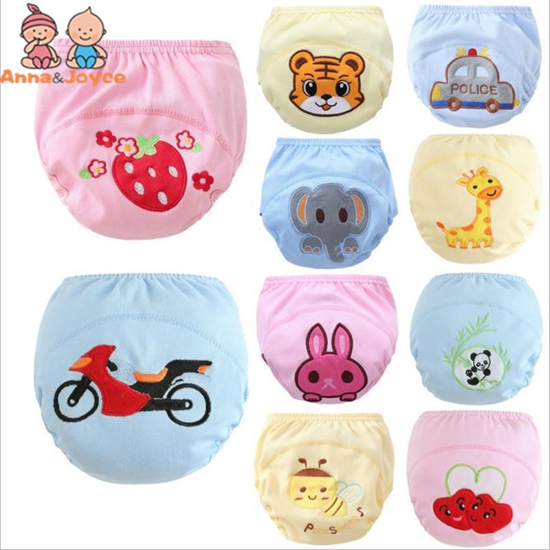 30pc/Lot 3Layers Baby Training Pants Boys Girls  Diapers Reusable Nappy Washable Underpants Size100 Suit 14--17kg