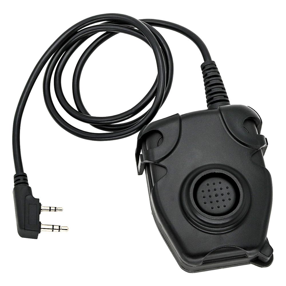 Tactical Headset Peltor Ptt Military Adapter For Kenwood 2-pin Plug