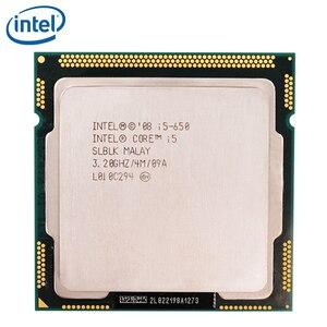 Intel Core i5-650 i5 650 Processor Dual-Core 4M Cache 3.2GHz CPU LGA 1156 100% working properly Desktop Processor