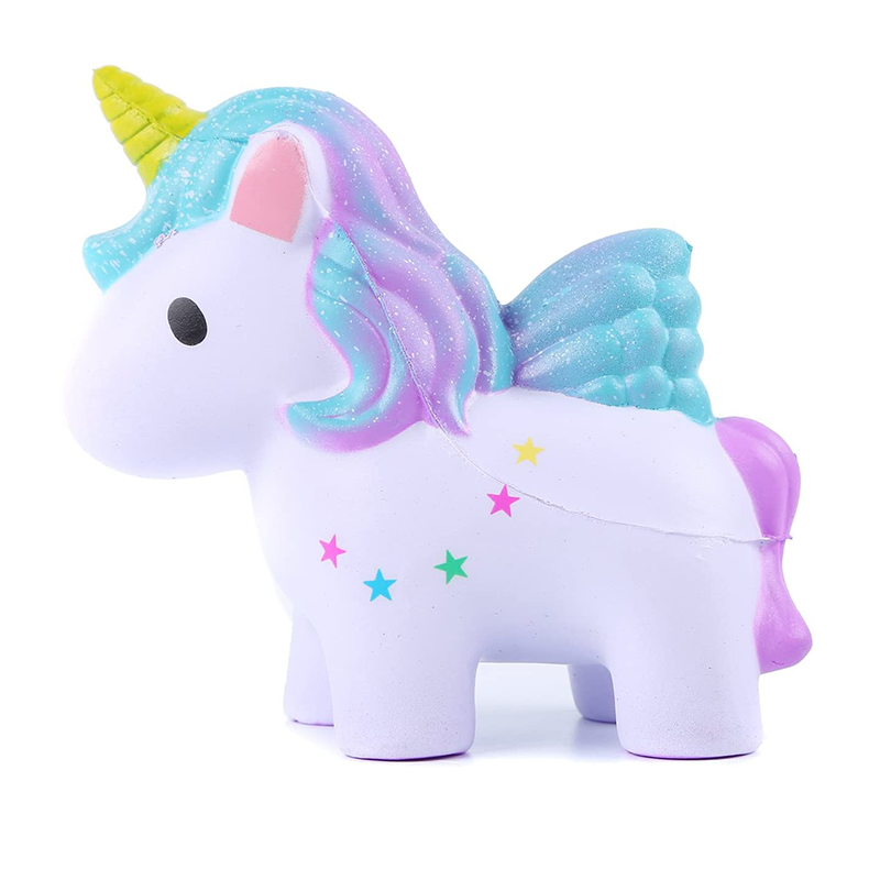 Kawaii Colorful Unicorn Squishy Simulation Doll Bread Scented Slow Rising Soft Squeeze Toy Stress Relief For Funny Kids Gift