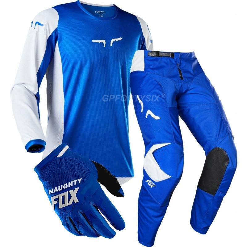 360 Kila DH vtt Moto équipement de course saleté vélo cyclisme maillot MX pantalon gants équitation ensembles Motocross costumes Moto Combos vêtements - 4