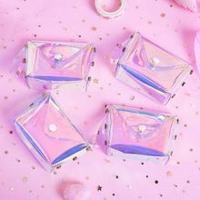 Fashion Jelly Transparent Coin Purse Letter Hasp PVC Card Bag Layer Case Soft New Girls