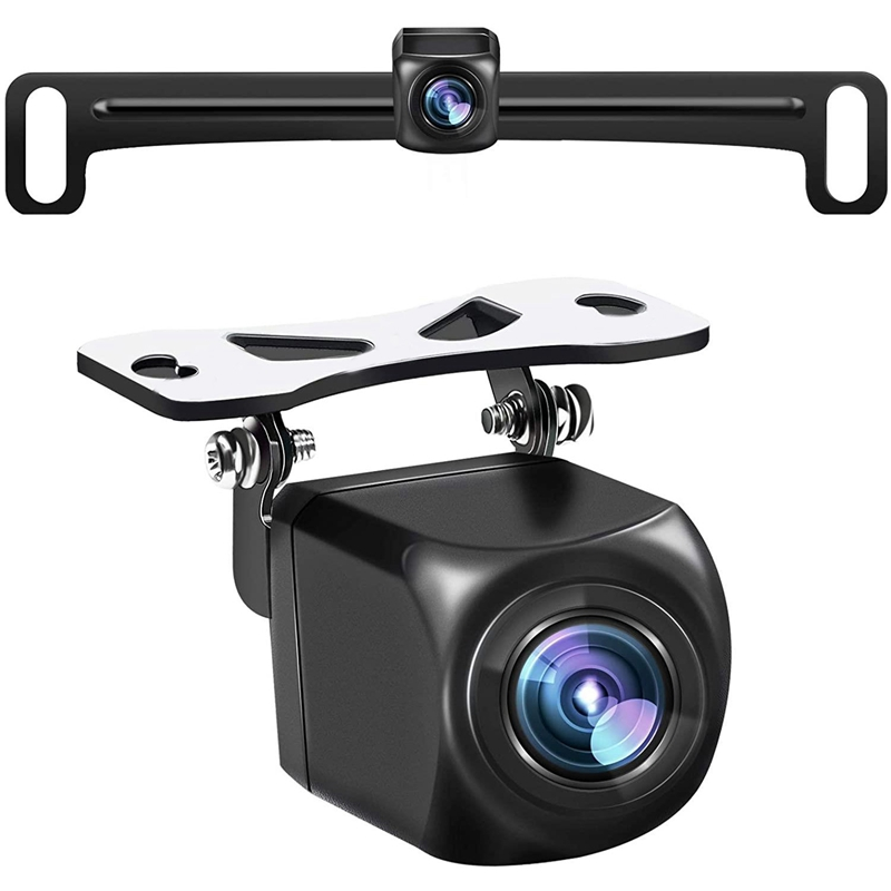 HD Camera,170 Degree Wide View Angle License Plate Rear View Camera for Car,Night Vision IP69 for Vehicle SUV RV Pickup