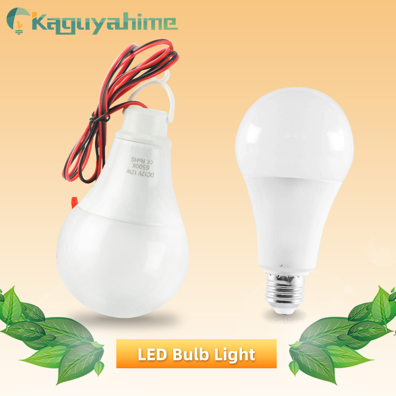 Kaguyhime 12V Portable Clip/220V E27 LED Bulb DC/AC Ring Hang Light Lamp 3W 7W 9W 12W 15W  For Outdoor Camping Fishing Emergency