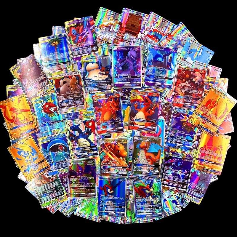 300 Pcs 60pcs Pokemon Cartes GX MEGA Shining Cards Game Battle Carte 100pcs Trading Cards Game Children Pokemons Toy