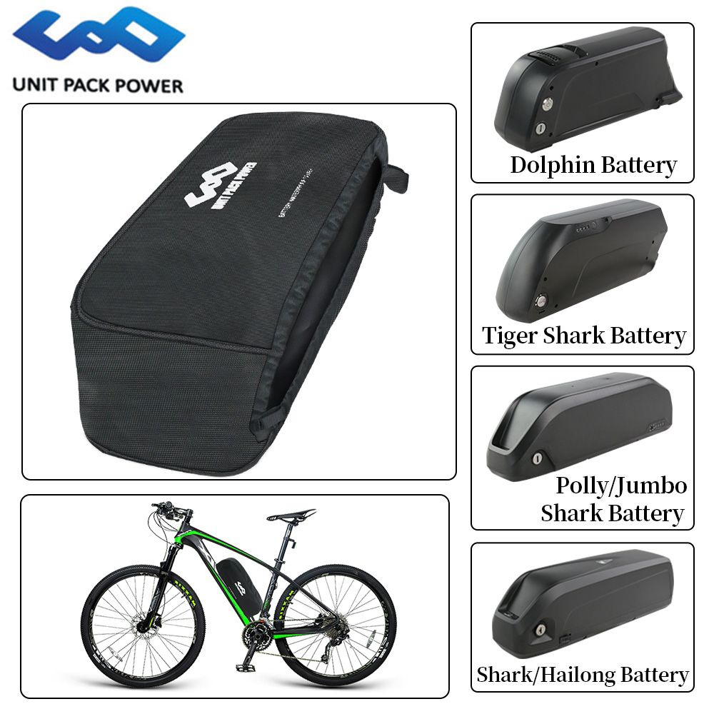 Water-Proof Cover For Ebike Battery Dust-Proof Anti-mud Cover Bag For Hailong/Tiger Shark/Dolphin/Jumbo Style Lithium Batteries
