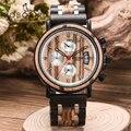 Мужские часы BOBOBIRD роскошные деревянные мужские наручные секундомер-хронограф Автоматическая Дата relogio masculino кварцевые наручные часы дерев...