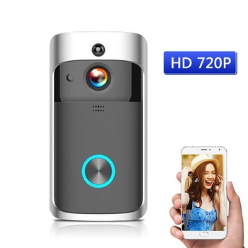 720P Wireless Phone Door Bell Camera WiFi Video Intercom Ring Doorbell Alarm System Home & Living Door Bell Wireless