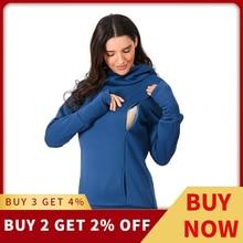 Толстовка для кормящих женщин с капюшоном, женская рубашка для грудного кормления с длинным рукавом, зимняя одежда для кормления, Одежда для беременных размера плюс, 18Dec12