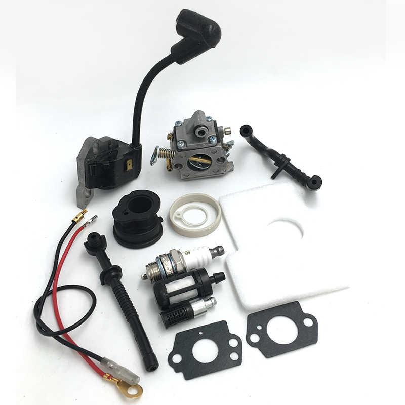 Buji karbüratör ateşleme bobini emme manifoldu kiti Stihl MS170 MS180 170 180 testere parçaları 1130 120 0608 1130 400 1302