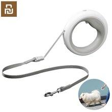 Oryginalny MOESTAR chowany smycz smycz dla psów elastyczny kształt pierścienia 2.6m z akumulatorowa lampa LED Night Light