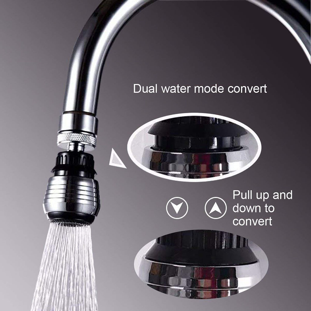 Kitchen Faucet Aerator black 2 Modes White 3 Modes 360 Degree adjustable Water Filter Diffuser Water Saving Nozzle Connector